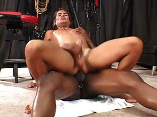 Hot black dude fuck white tight ass