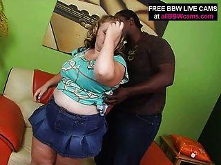 Loura bbw incrível suga e fode cara preta big tits part 1