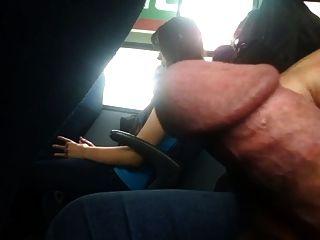 Piscando falhou no ônibus com cum