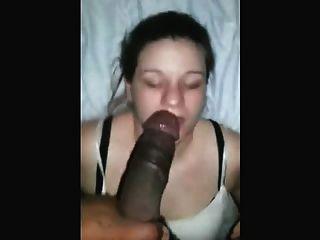 Habilidoso, branca, menina, deepthroats, pretas, dick, estilo