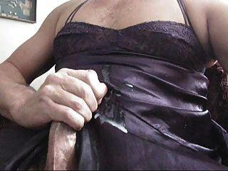 Jackin fora em lingerie vizinho enorme tiro cum