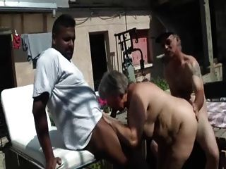 Bbw francês fodido em um threesome