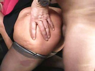 Sexo anal maduro e duro