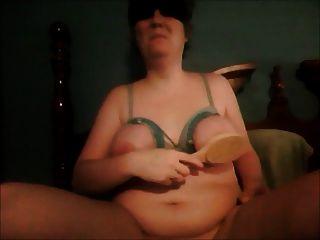 Amarrado, tits, usado, escova