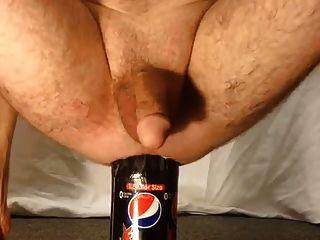 Garrafa de 1,5 litros inserção anal masculina