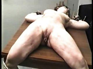 Amador, bdsm, pernas, espalhado, largo, severo, bichano, chicoteando