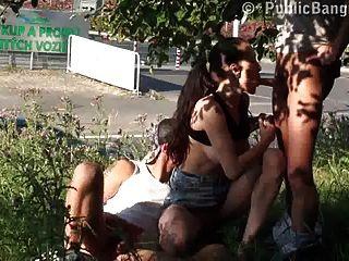 Público sexo real bums estão tendo sexo na rua pública parte 1