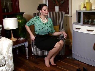 Victoria c admiração de nylon sofisticado!