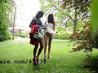 2 lesbianas sluts exibicionista no parque