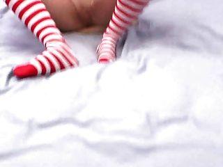 Buceta cremosa obtém pov sexo com namorada slutty