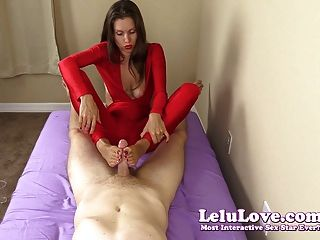 Lelu love cfnm masturbação com os pés cumshot