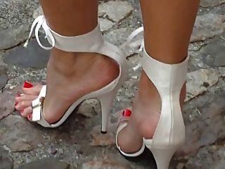 Sandálias de salto alto branco