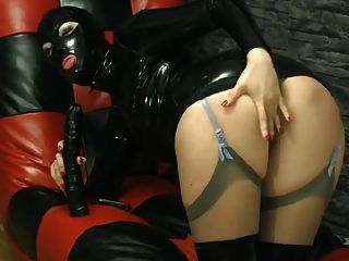 Capa de látex masturbar
