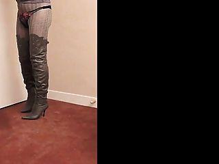Nadine cd thighboots, saltos altos e lingerie