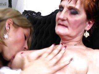 Velha vovó fica jovem buceta fresca para foder