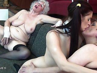 Granny fode sua jovem e milf maduro