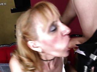 Mamãe slut madura fodido pelo menino e fica facial