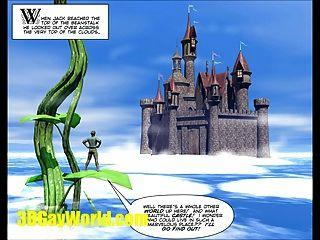 Jaque \u0026 beanstalk 3dgay desenhos animados cómico gay famoso conto de fadas