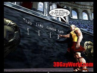 Gay jogos olímpicos 3d engraçado cartoon gay 3d cartoon quadrinhos piada
