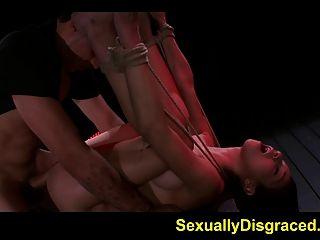 Sexo áspero para mia hurley enquanto preso e indefeso