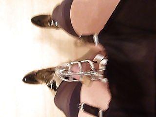 Nylon passeio de cinto com gaiola e esticador de bola