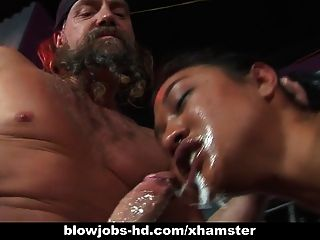 Extrema caged asian blowjob de lyla lei