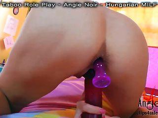 Angie noir no pov fudendo anal apenas para você!