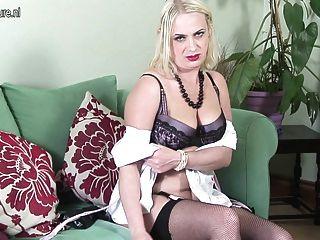 Amador, britânico, mãe, obtendo, pelado, naughty