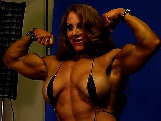 Sexy, músculo, deusa, estúdio, 1