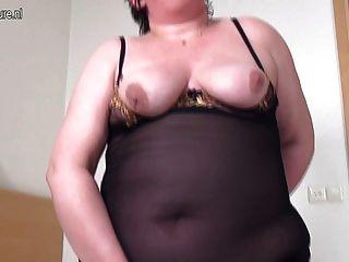Grande, gorda, granny, faminto, bom, foda