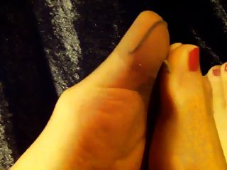 Amantes de nylon dos pés