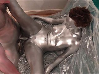 Prata corpo pintura sexo e solo reboque