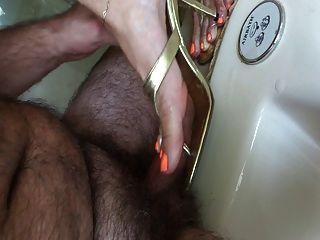 Shoejob com laranja polonês