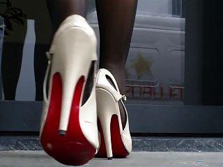 Sandálias de salto alto e pés de nylon 2