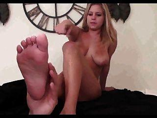 Massagem de adoração nos pés