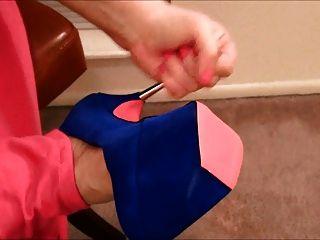 Círculo empurrão para seus pés