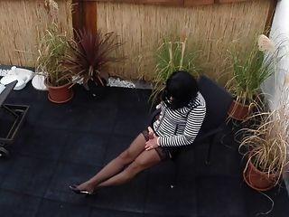Show de perna ao ar livre