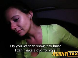 Hornytaxi enza me fode na câmera para dar a ela ex