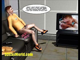 Invisível galo sci fi 3d cartoon animado história cômica