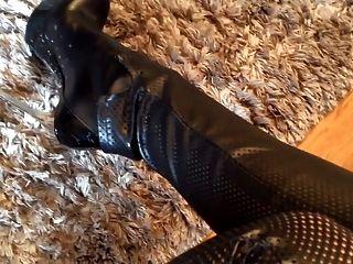 Julie ass skyhigh couro e botas lorenzi sapatos de salto alto