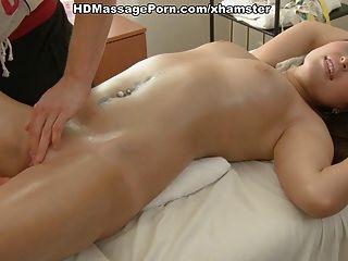 Tatuado, menina, massaged, fodido, doggy, estilo