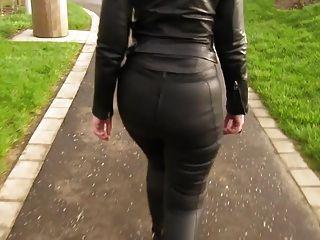 Eva de couro para fora para um passeio em meu leggings de couro novo 5