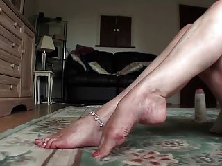 Milf creme e tease pés