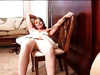 Dedilhado meg em meia-calça branca