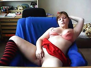 Menina, mostrando, dela, bunda, webcam