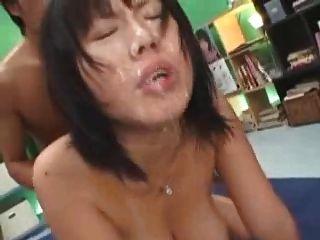 Japanese girl big tits bukake