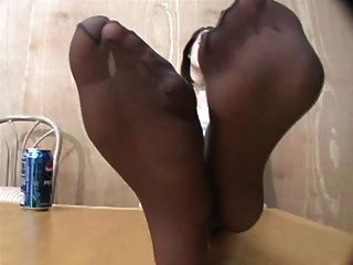 Fetiche de pé de nylon