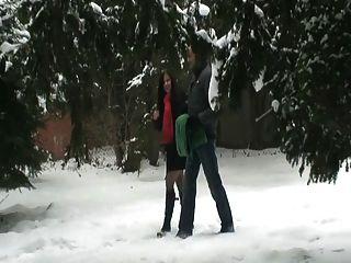 Sexo público na neve