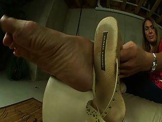 Sexy espessura pés maduros