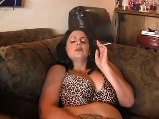 Quente, curvy, maduro, bbw, fumar, diddling